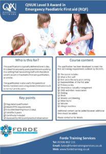 Level 3 Emergency Paediatric First aid