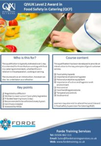 Food safety in Catering Course Poster