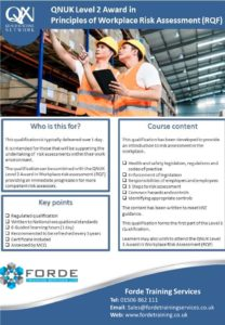 Level 2 Risk Assessment Course Poster
