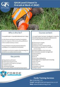 Level 3 First Aid at Work plus Forestry