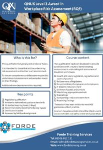 Level 3 Risk Assessment Course Poster